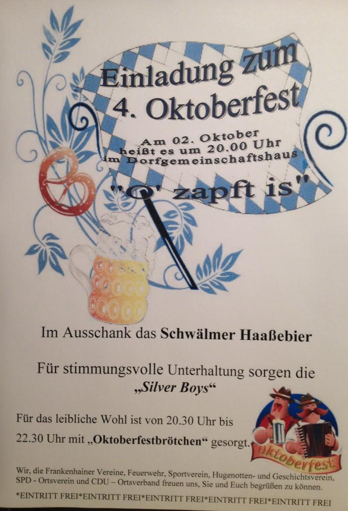 Oktoberfest Frankenhain